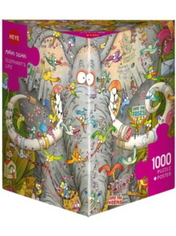 Heye Kalender Puzzle Elephant's Life, Degano 1000 Teile