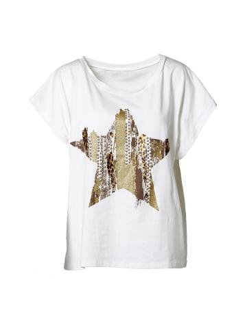 NÜ T-Shirt Freja in Creme mix