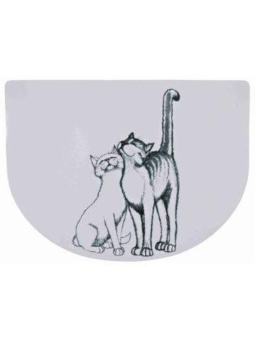 TRIXIE Napfunterlage Schmusekatzen 40 x 30 cm, weiß