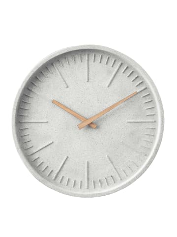 Butlers Wanduhr Beton-Look WALL COUTURE in grau