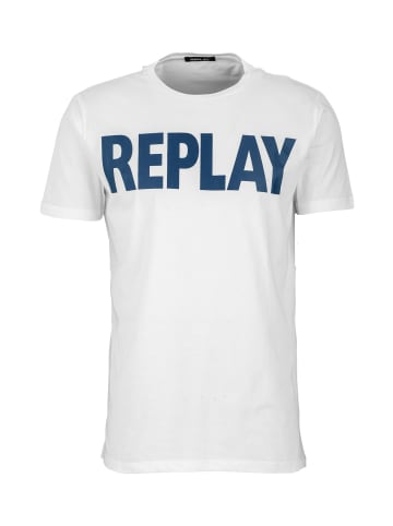 Replay T-Shirt Basic Jersey 30/1 in weiß