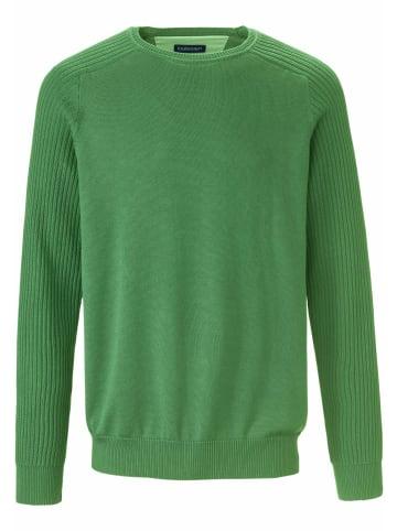 LOUIS SAYN Pullover Rundhals-Pullover aus 100% Baumwolle Pima Cotton in grün
