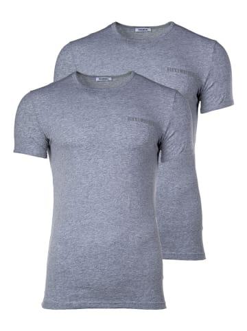 Bikkembergs T-Shirt 2er Pack in Grau
