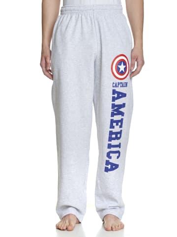 MARVEL Captain America Jogginghose Logo in grau meliert