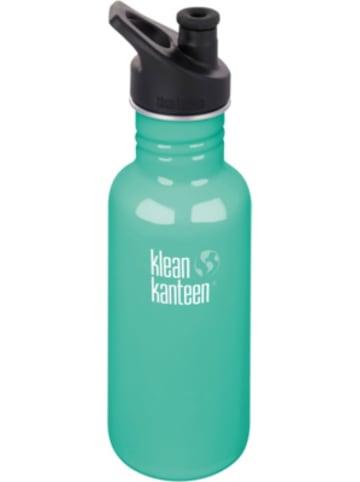 Klean Kanteen Edelstahl-Trinkflasche ® Classic Sea Crest, 532 ml, Sport Cap
