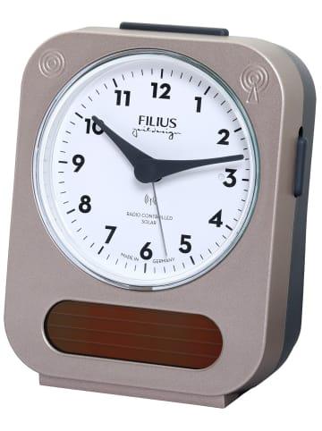 Filius Funk-Solar-Wecker Weiß / Braun
