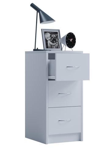 VCM  Holz Nachtschrank Boxal Maxi mit Schublade in Weiß