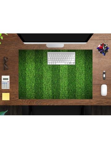 """Cover-your-desk.de  Schreibtischunterlage """"Spielfeldrasen Muster"""" in Grün (L)60 x (B)40"""