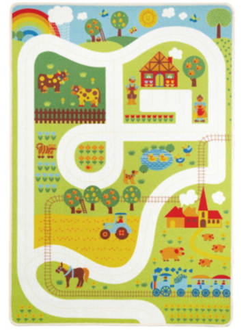 ByGraziela  Spielteppich Bauernhof, 90 x 130 cm
