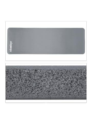 Relaxdays Yogamatte in Grau - (B)60 x (H)1 x (T)180 cm