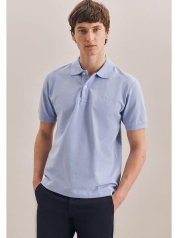 Seidensticker Polo-Shirt Regular in Hellblau