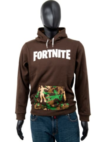 Fortnite Hoodie Kids Logo Brown 164cm