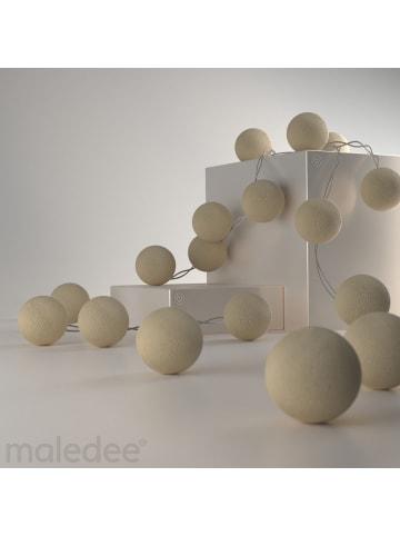 "Maledee Cotton Balls LED-Lichterkette ""Cream"" in soft Beige Batterie"