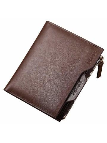 FEDER Leder Geldbörse + Geschenkbox in Walnut Brown