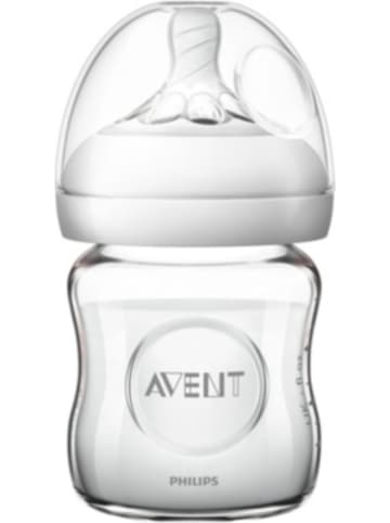 Philips Avent Weithalsflasche Naturnah 2.0 SCF051/17 Glas, 120 ml, Silikonsauger
