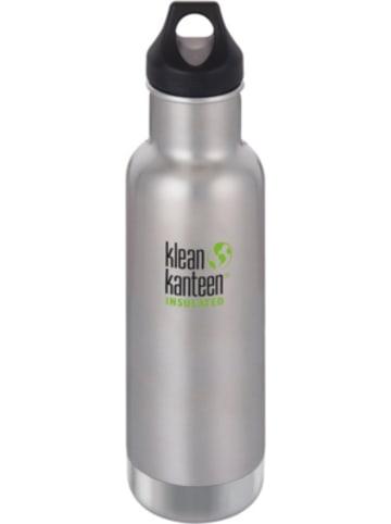 Klean Kanteen Edelstahl-Trinkflasche ® Classic Brushed Stainless, 592 ml, vakuumisoliert,...