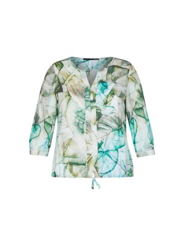LeComte Bluse mit geblümtem Muster und Tunnelzug in OLIVE