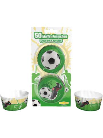 Dekoback Muffinförmchen Fußball, 50 Stück