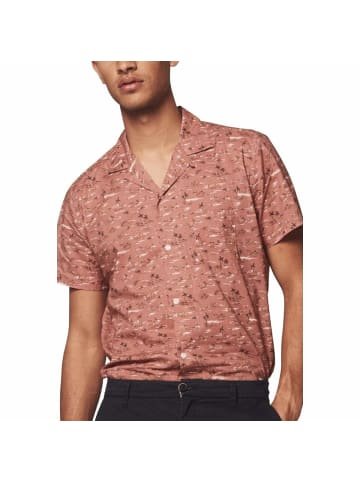 DSTREZZED Kurzarm Freizeithemd in pink