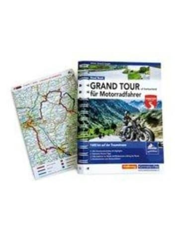 Hallwag-Verlag Grand Tour of Switzerland für Motorradfahrer | 1600 km auf der Traumstrasse