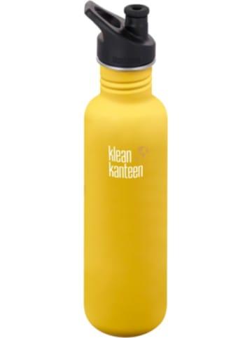 Klean Kanteen Edelstahl-Trinkflasche ® Classic Lemon Curry, 800 ml, Sport Cap