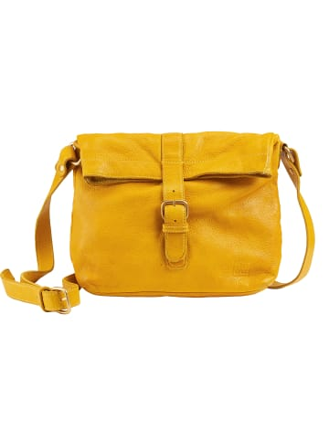 DuDu Umhängetasche Leder 27 cm in saffron yellow