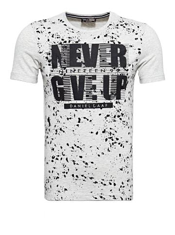 Daniel Daaf Daniel Daaf Watercolor T-Shirt mit Frontprint in ecru