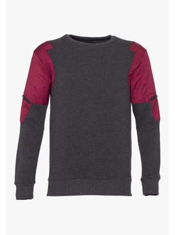 PLUS EIGHTEEN Sweater in Schwarz Melange