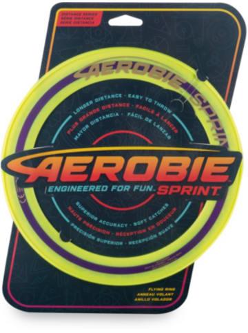 Aerobie Sprint Flying Ring Wurfring mit Durchmesser 25,4 cm, gelb
