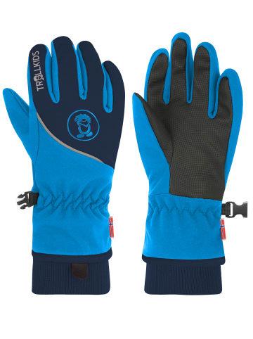 "Trollkids Handschuhe ""Trolltunga"" in Marineblau / Mittelblau"