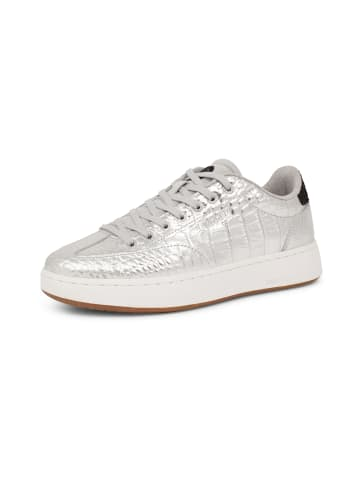 WODEN Sneakers Pernille Croco Shiny in Silber