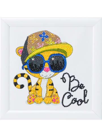 CRAFT Buddy Crystal Art Cooler Tiger, 16 x 16 cm Kristallkunst zum Einrahmen