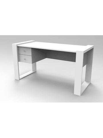 Moebel17 Schreibtisch Lord Weiß
