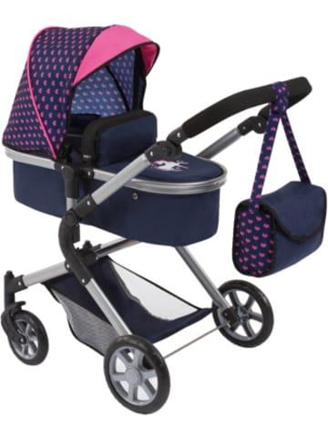 Bayer Design Puppenwagen City Neo, blau/pink mit Einhorn