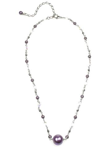 Perlas Orquidea  Perlenkette Antigone Aubergine Necklace in aubergine