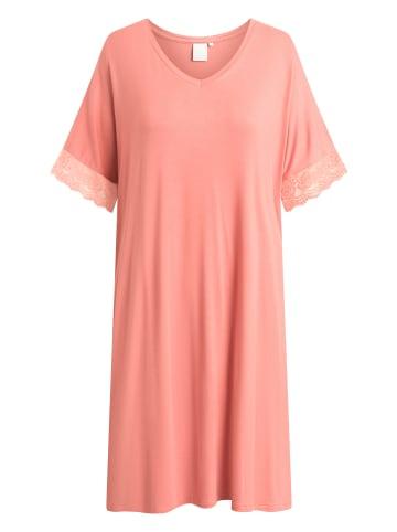 CCDK  Mittellanges Nachtkleid mit kurzen Ärmeln Lucille Rose in faded rose