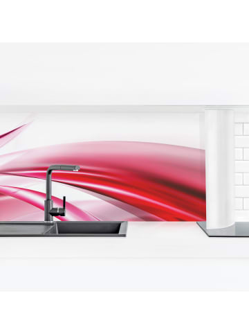 Bilderwelten  Küchenrückwand - Pink Dust in Rot