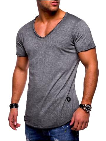 Behype T-Shirt NUKE in dunkelgrau (wash)