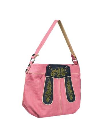 Almsach Außergewöhnliche Trachtentasche in Rosa