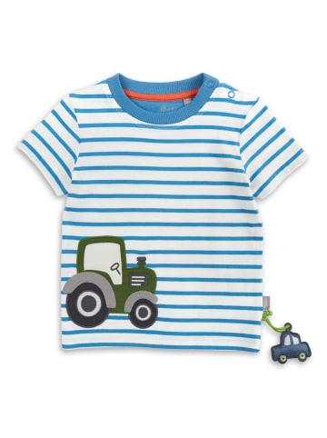 "Sigikid T-Shirt ""Traktor"" in Blau/Weiß geringelt"