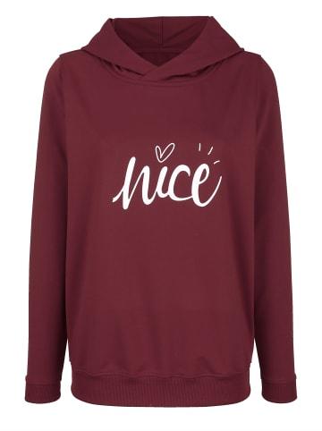 Basically you Sweatshirt in Brombeere
