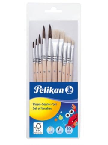 Pelikan Pinsel Starterset Borsten- und Haarpinsel, 10 Stück