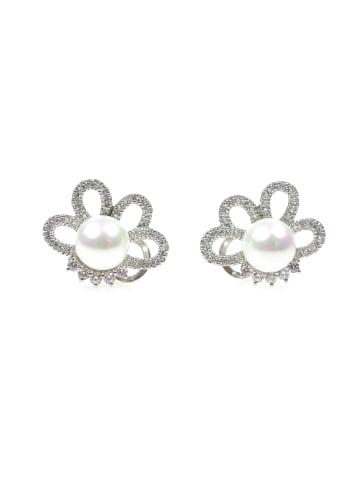 Perlas Orquidea  Perlenohrringe Bianca Earrings in weiß