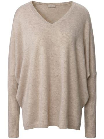 Include Pullover mit V-Ausschnitt in sand-melange