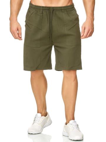 Max Men Shorts Bermuda Pants Kurze Sommer Hose leicht in Grün