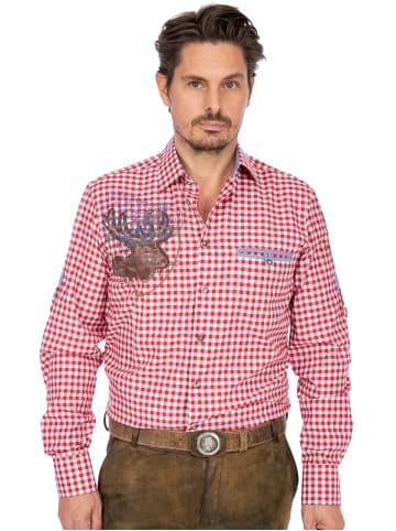 OS-Trachten Karo Langarmhemd SF 420056-3104-34 rot