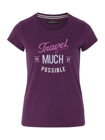 Oklahoma Premium Denim T-Shirt in Pot. Purple