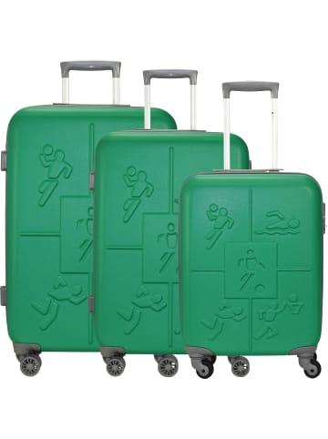 Check.In Sports 4-Rollen Kofferset 3tlg. in grün