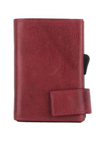 SecWal SecWal 2 Kreditkartenetui Geldbörse RFID Leder 9 cm in rot