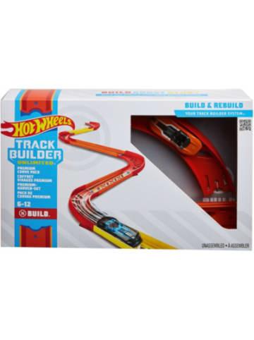 Mattel Hot Wheels Track Builder Unlimited Premium-Kurven-Set inkl. 1 Spielzeugauto
